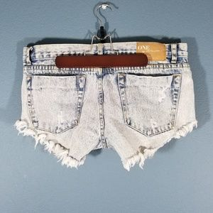 One Teaspoon Bonitas denim jean shorts